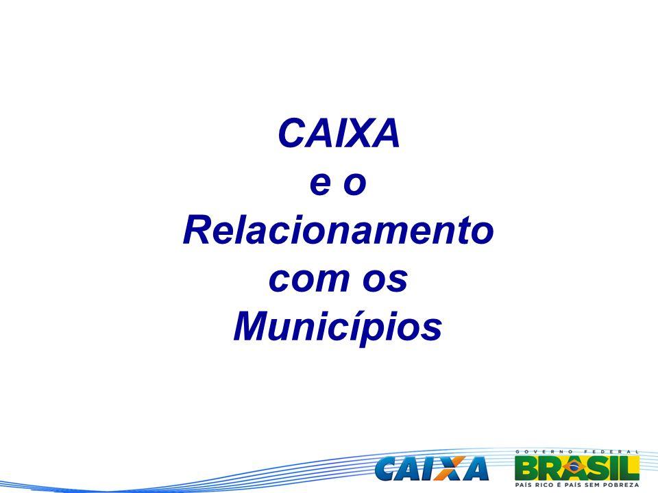 CAIXA e o Relacionamento com os Municípios