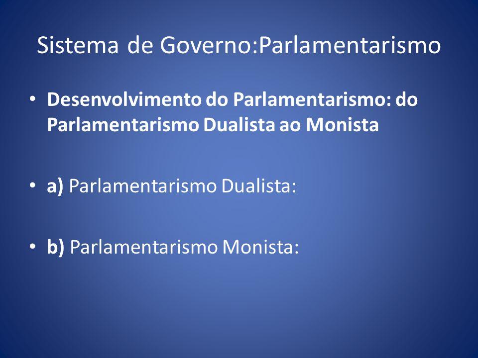 Sistema de Governo:Parlamentarismo