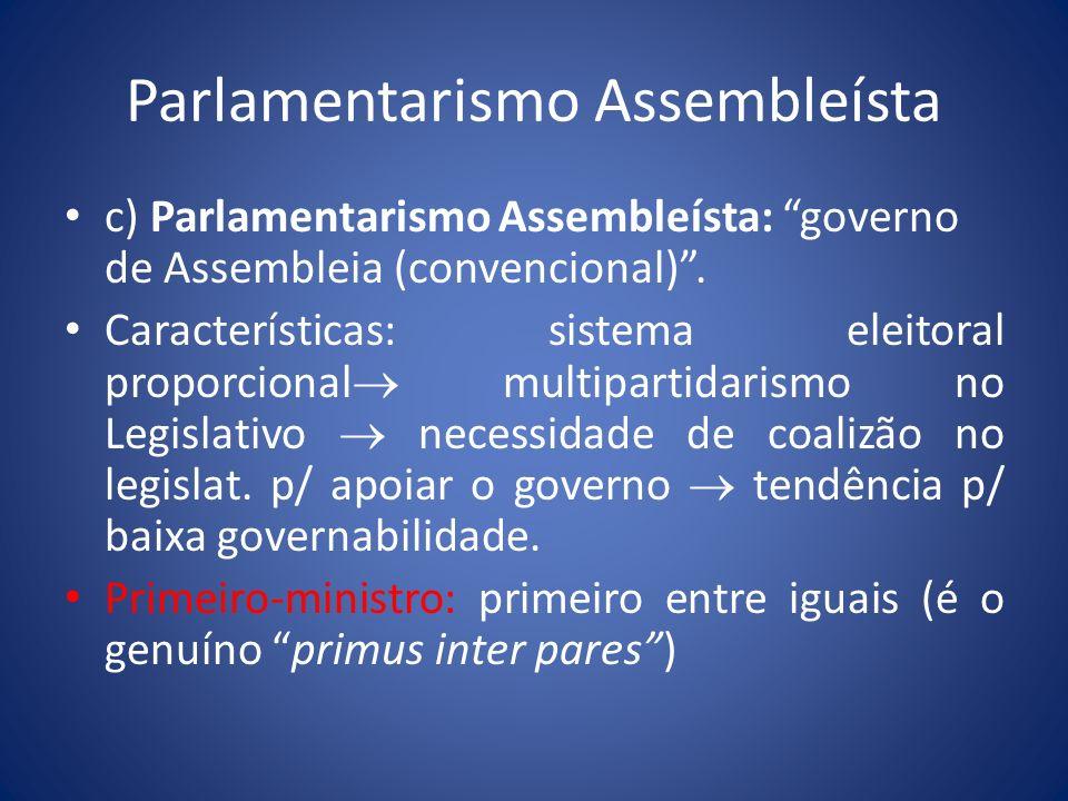 Parlamentarismo Assembleísta