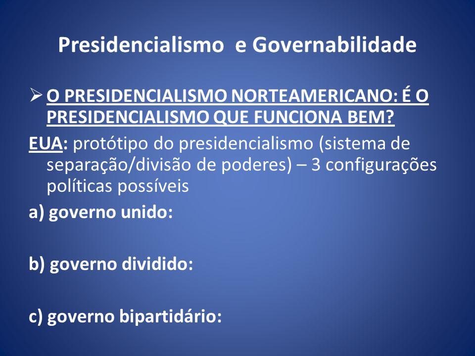 Presidencialismo e Governabilidade