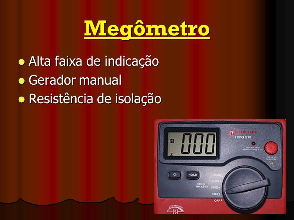 Megômetro Alta faixa de indicação Gerador manual