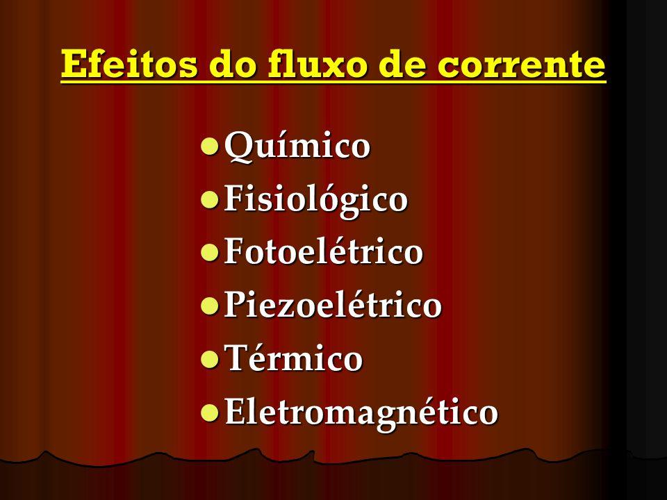 Efeitos do fluxo de corrente