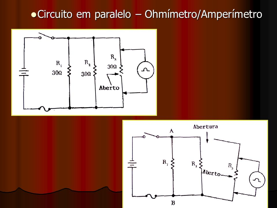 Circuito em paralelo – Ohmímetro/Amperímetro