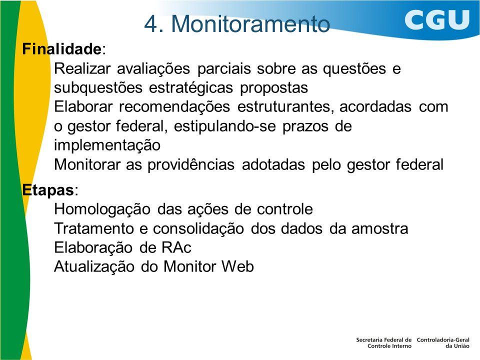 4. Monitoramento Finalidade: