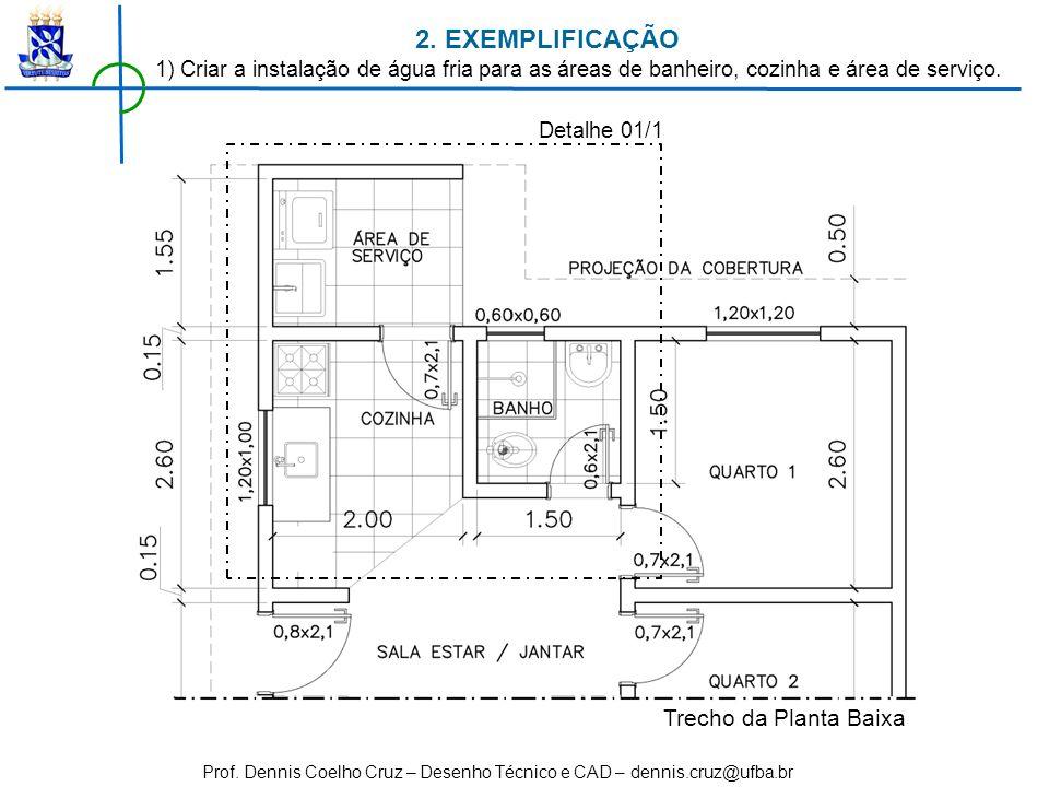 2. EXEMPLIFICAÇÃO Trecho da Planta Baixa
