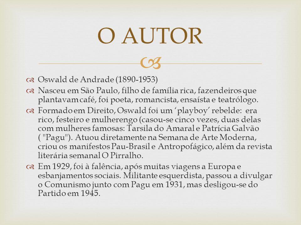 O AUTOR Oswald de Andrade (1890-1953)
