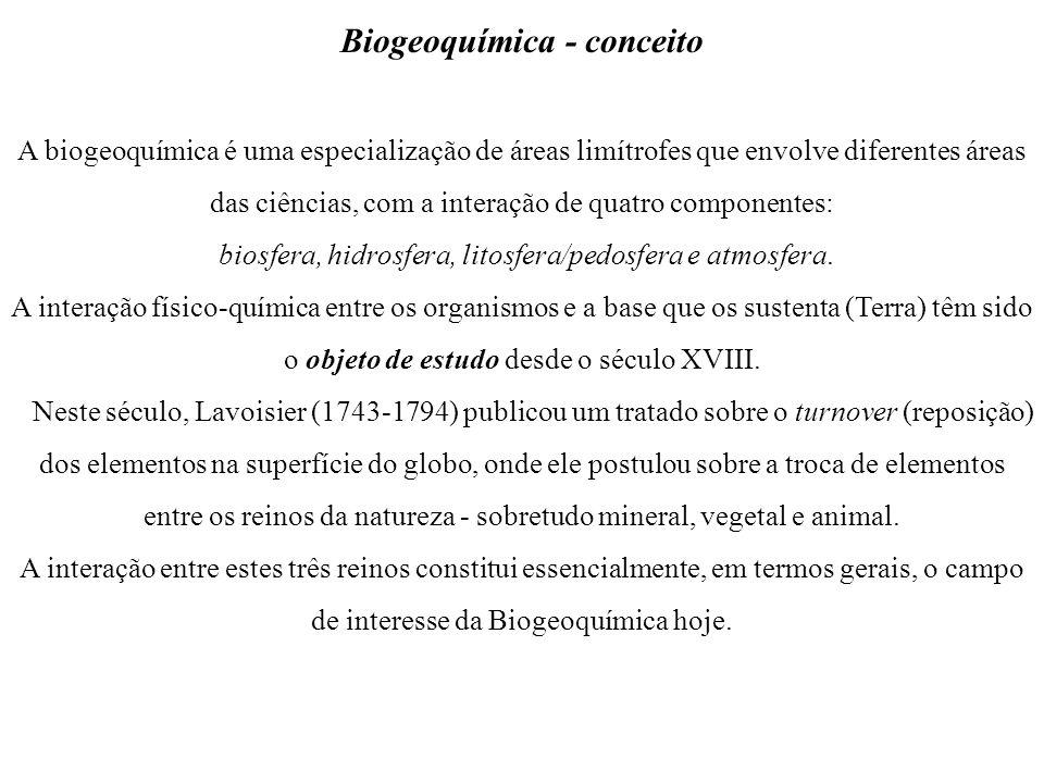 Biogeoquímica - conceito