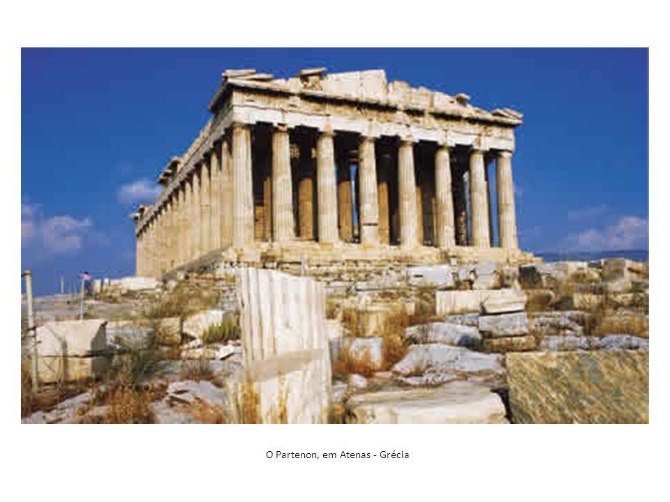 O Partenon, em Atenas - Grécia