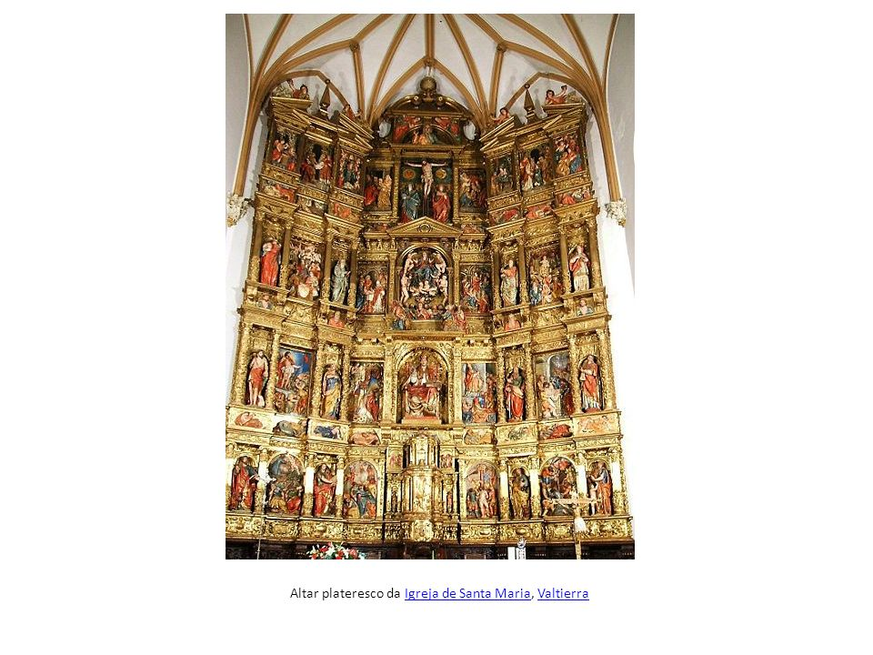 Altar plateresco da Igreja de Santa Maria, Valtierra