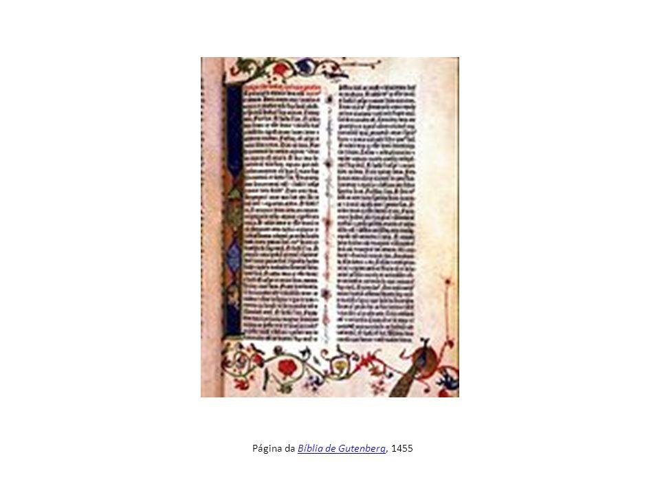 Página da Bíblia de Gutenberg, 1455