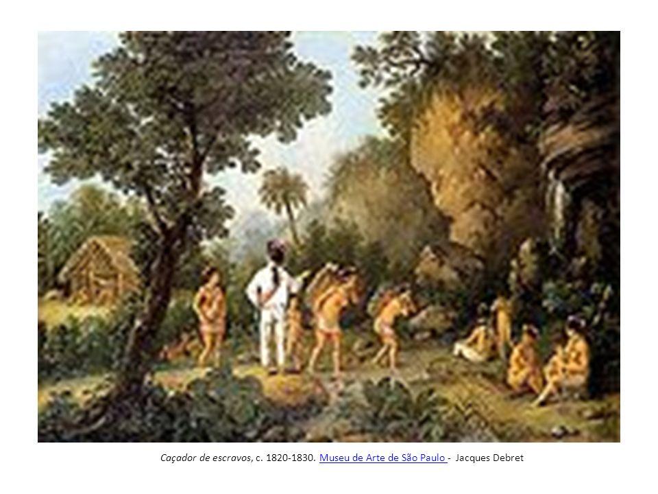 Caçador de escravos, c. 1820-1830. Museu de Arte de São Paulo - Jacques Debret