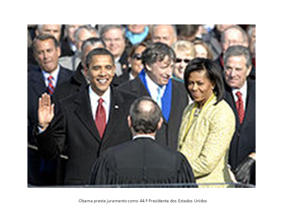 Obama presta juramento como 44.º Presidente dos Estados Unidos