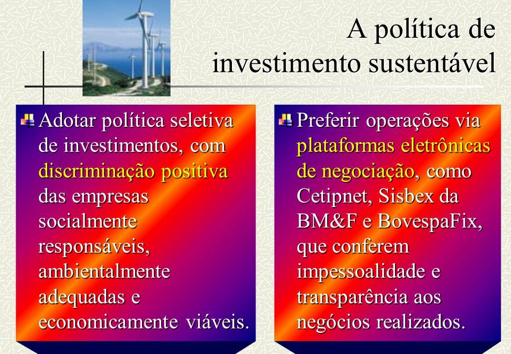 A política de investimento sustentável