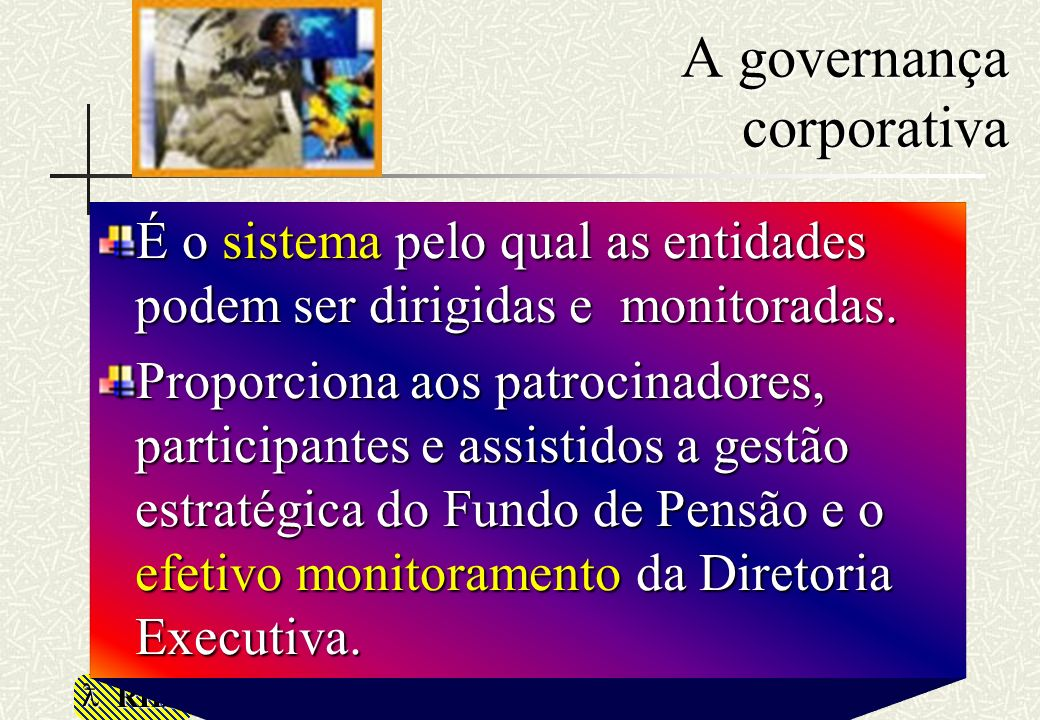 A governança corporativa