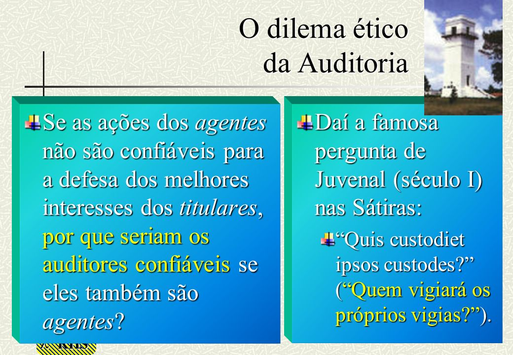 O dilema ético da Auditoria