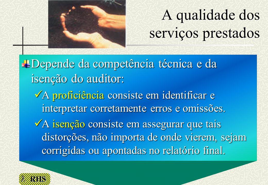 A qualidade dos serviços prestados