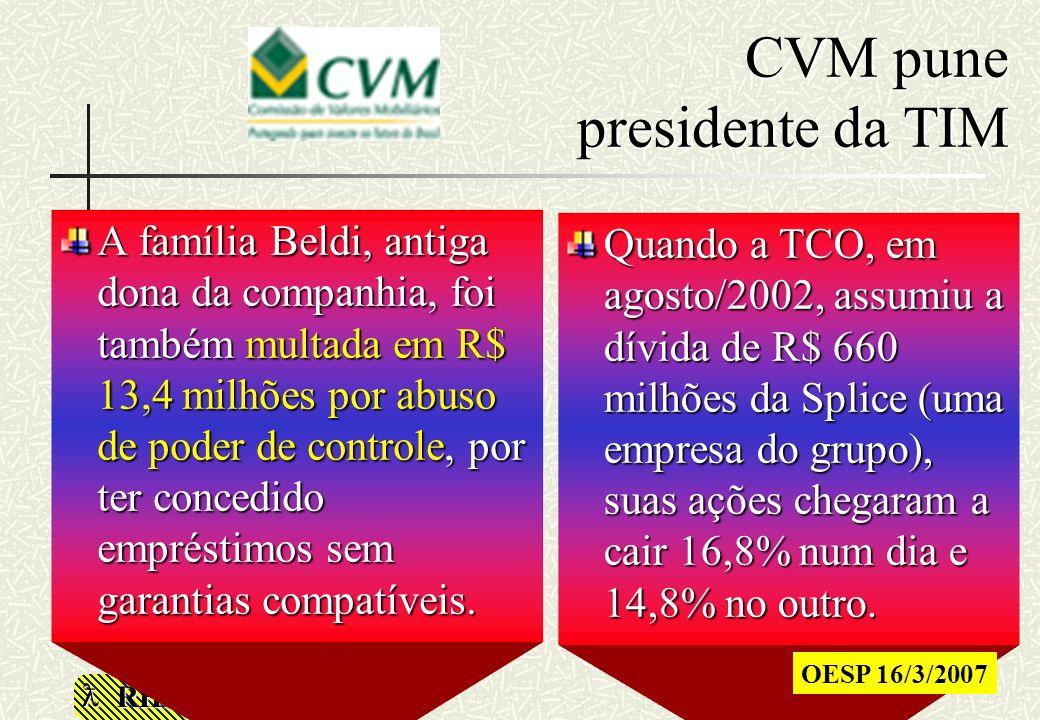 CVM pune presidente da TIM