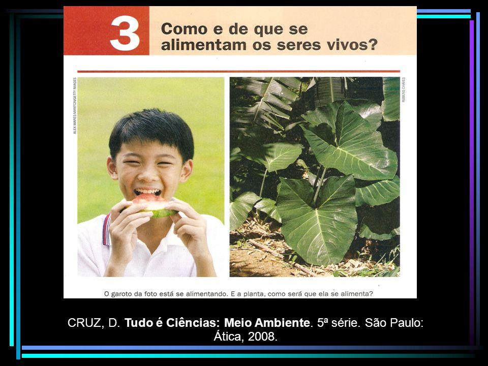 CRUZ, D. Tudo é Ciências: Meio Ambiente. 5ª série
