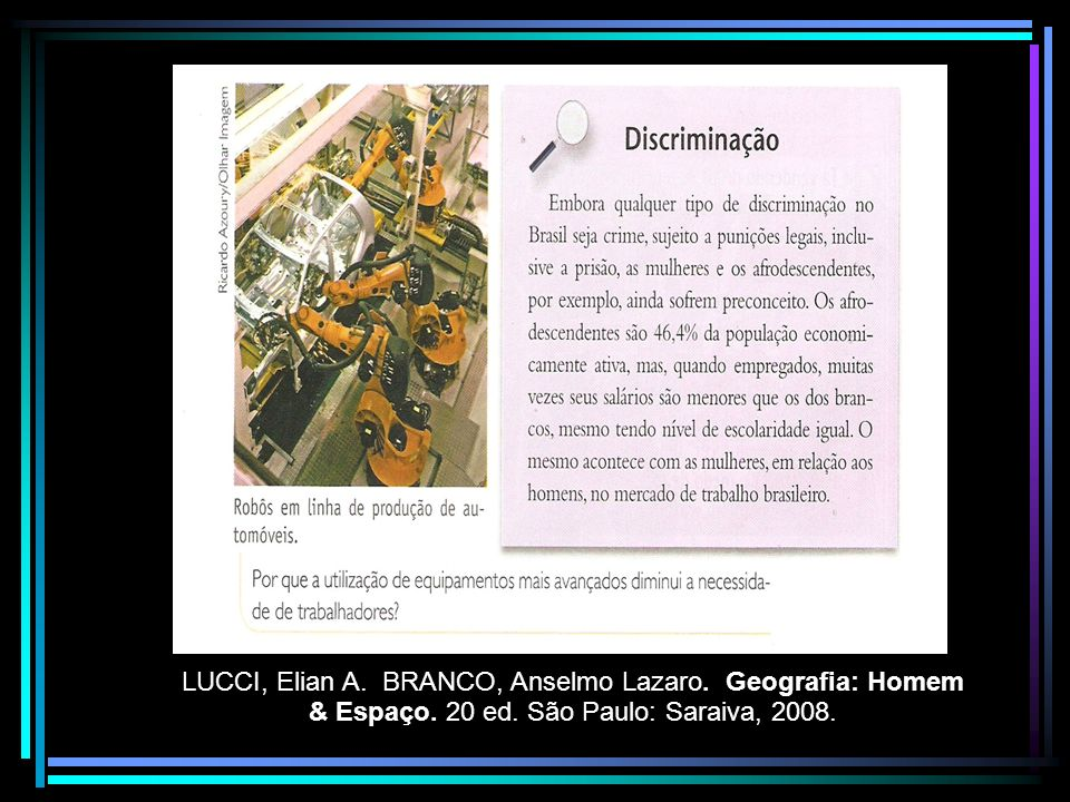 LUCCI, Elian A. BRANCO, Anselmo Lazaro. Geografia: Homem & Espaço