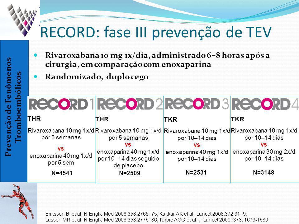 RECORD: fase III prevenção de TEV