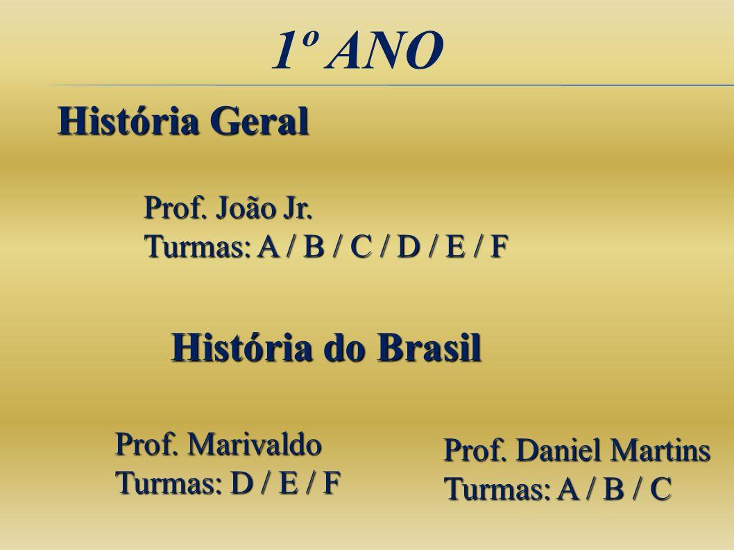 1º ANO História Geral História do Brasil Prof. João Jr.