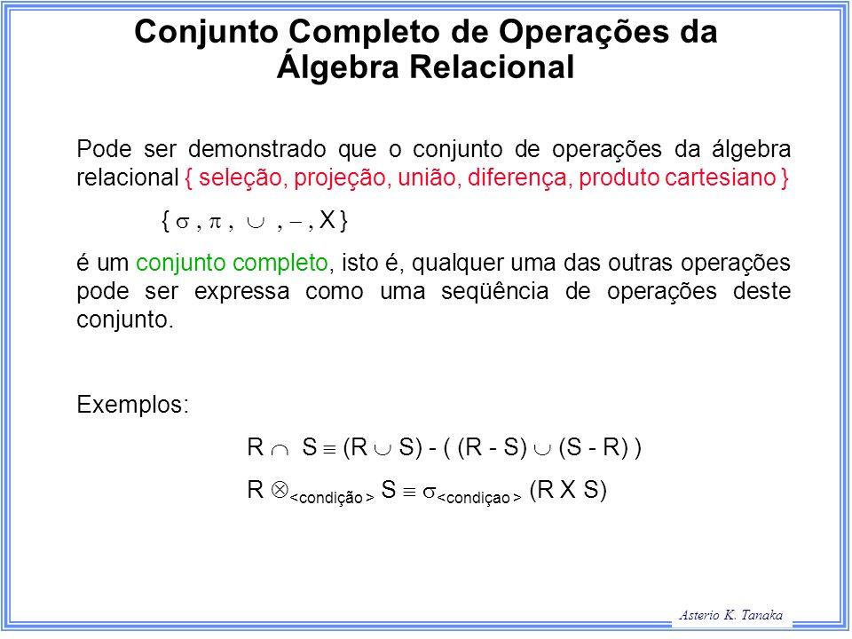 Conjunto Completo de Operações da Álgebra Relacional