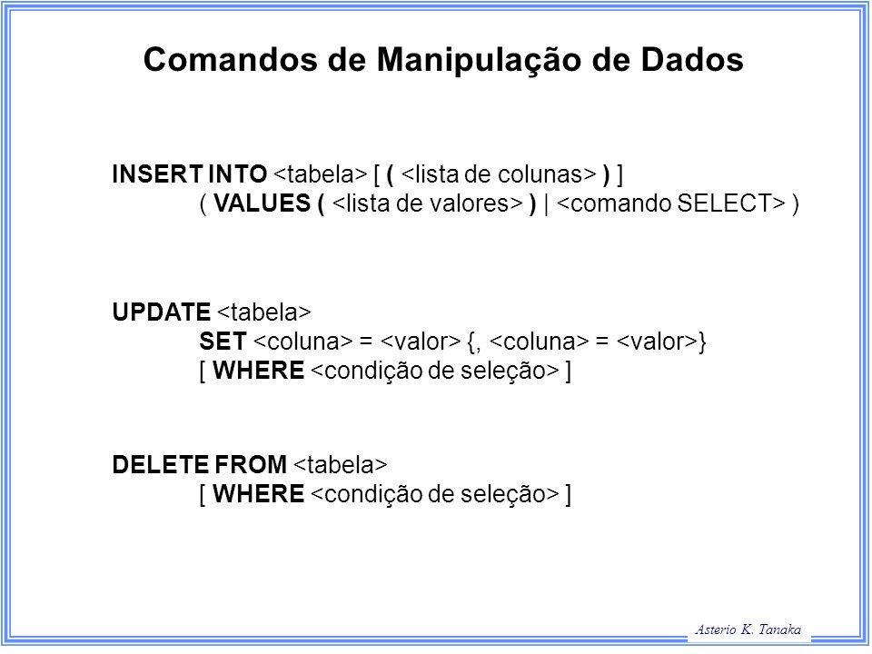 Comandos de Manipulação de Dados