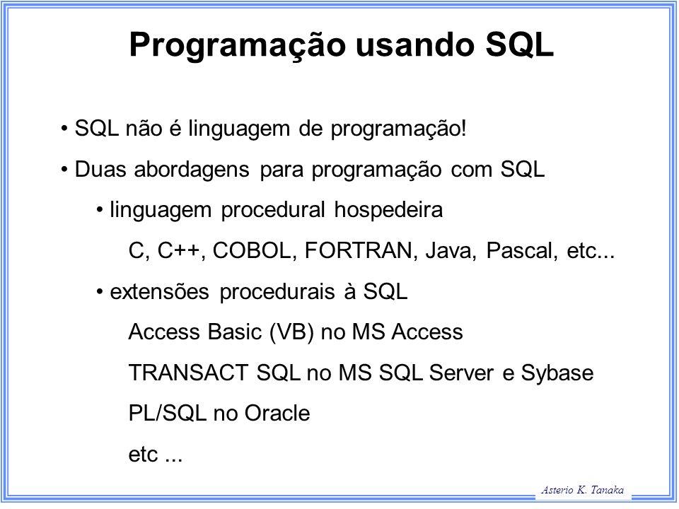 Programação usando SQL