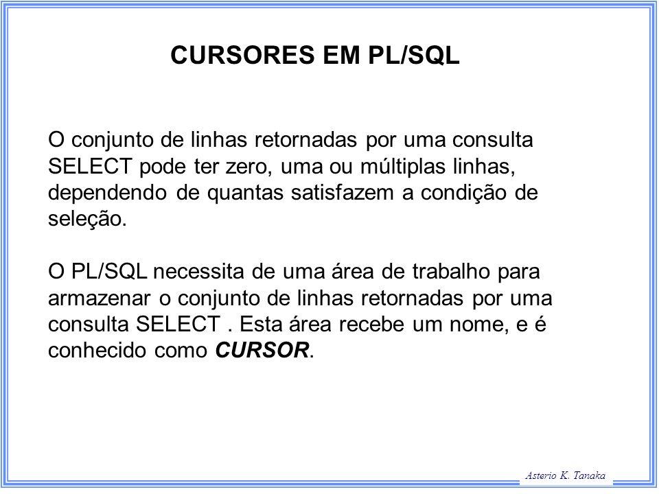 CURSORES EM PL/SQL