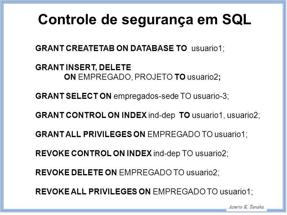 Controle de segurança em SQL