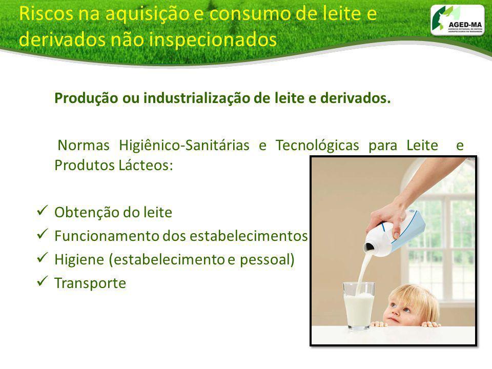 Riscos na aquisição e consumo de leite e derivados não inspecionados