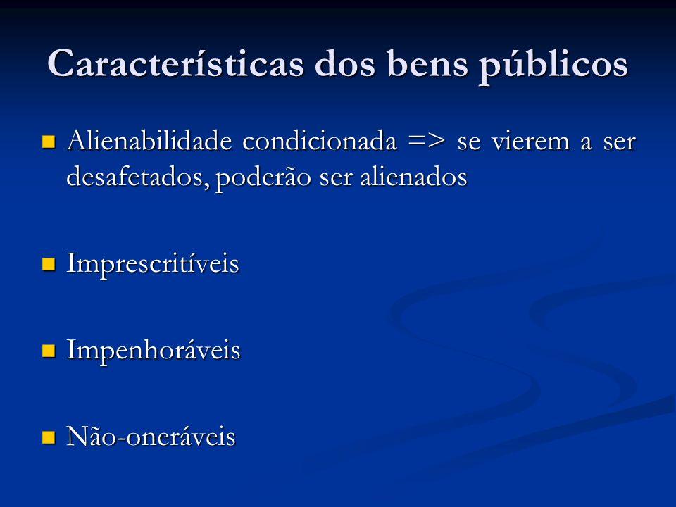 Características dos bens públicos