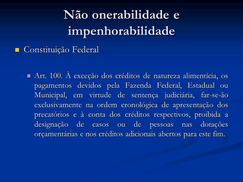 Não onerabilidade e impenhorabilidade