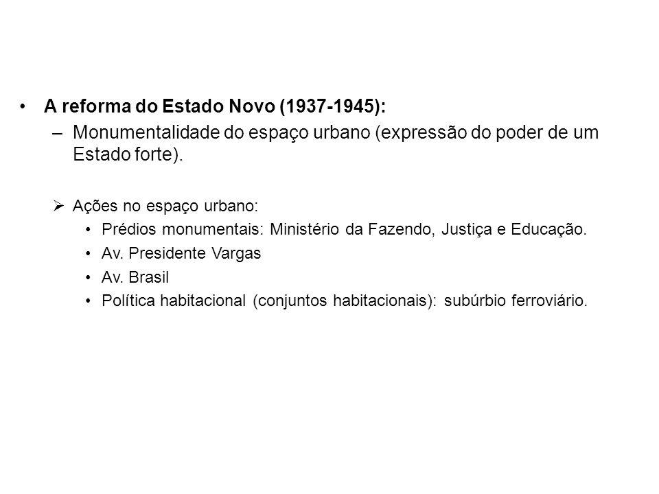A reforma do Estado Novo (1937-1945):