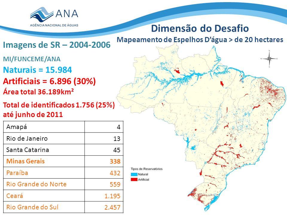 Mapeamento de Espelhos D'água > de 20 hectares