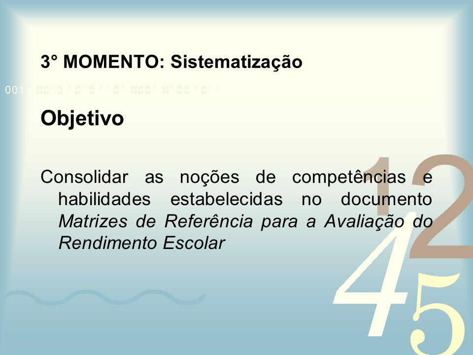 3° MOMENTO: Sistematização
