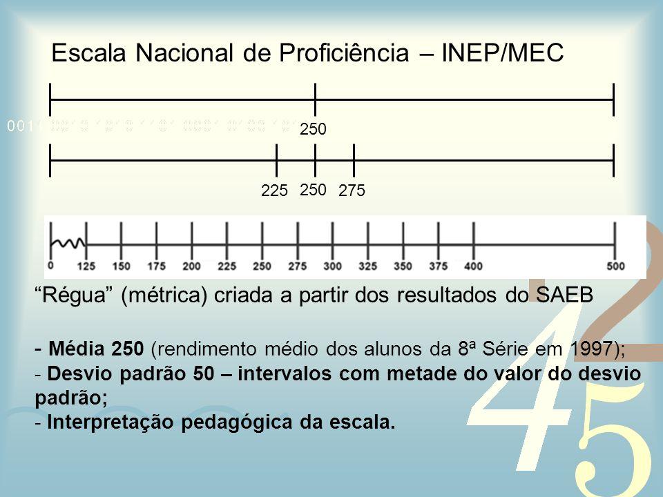 Escala Nacional de Proficiência – INEP/MEC