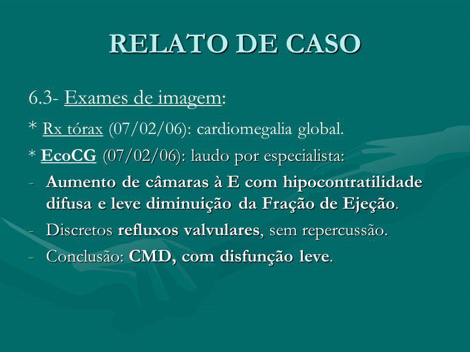 RELATO DE CASO 6.3- Exames de imagem: