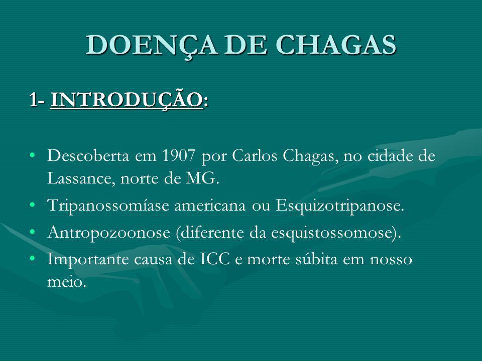 DOENÇA DE CHAGAS 1- INTRODUÇÃO: