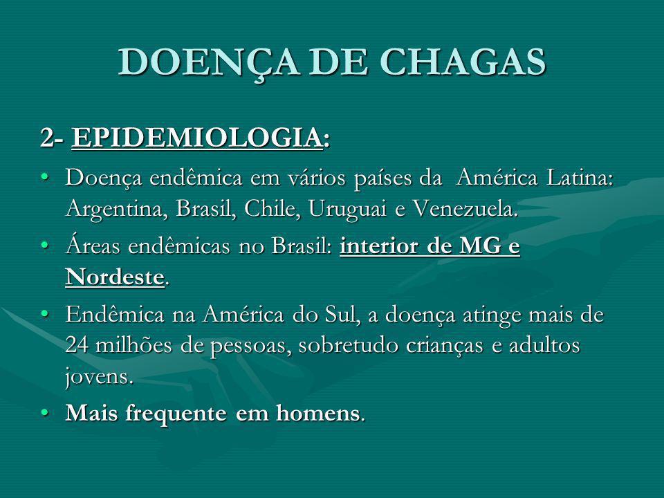 DOENÇA DE CHAGAS 2- EPIDEMIOLOGIA: