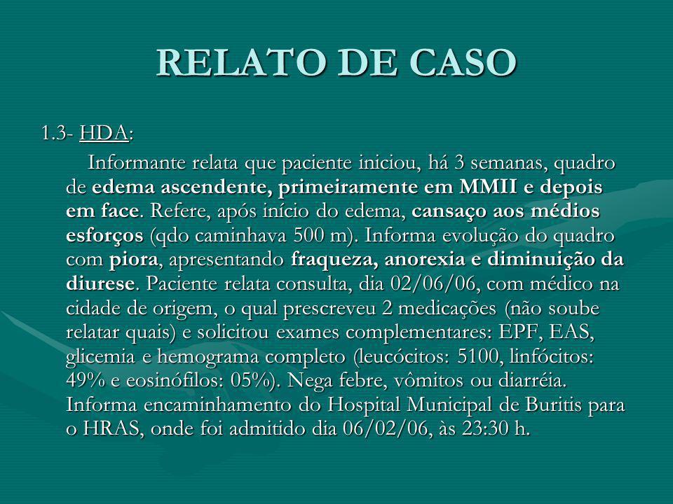 RELATO DE CASO 1.3- HDA: