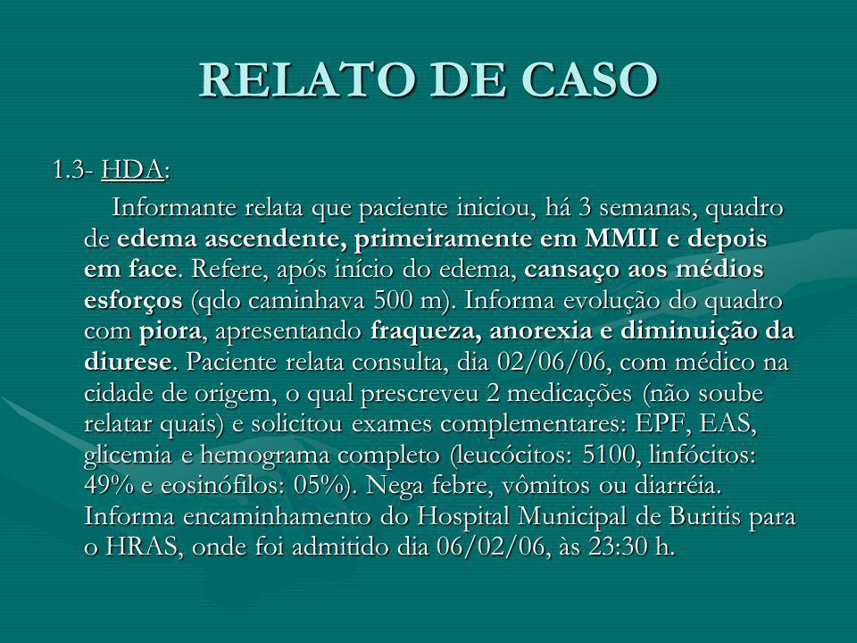 RELATO DE CASO1.3- HDA: