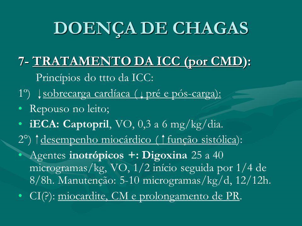 DOENÇA DE CHAGAS 7- TRATAMENTO DA ICC (por CMD):
