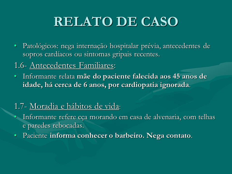 RELATO DE CASO 1.6- Antecedentes Familiares:
