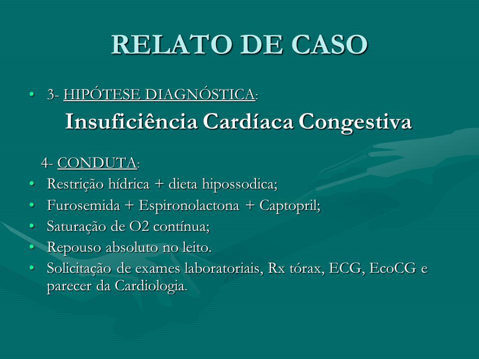 RELATO DE CASO 3- HIPÓTESE DIAGNÓSTICA:
