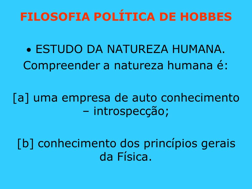 FILOSOFIA POLÍTICA DE HOBBES