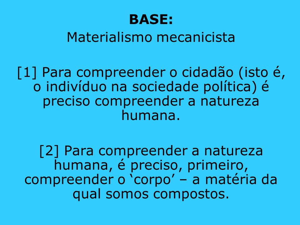 Materialismo mecanicista