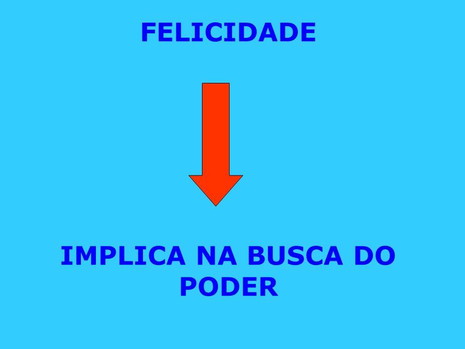 FELICIDADE IMPLICA NA BUSCA DO PODER