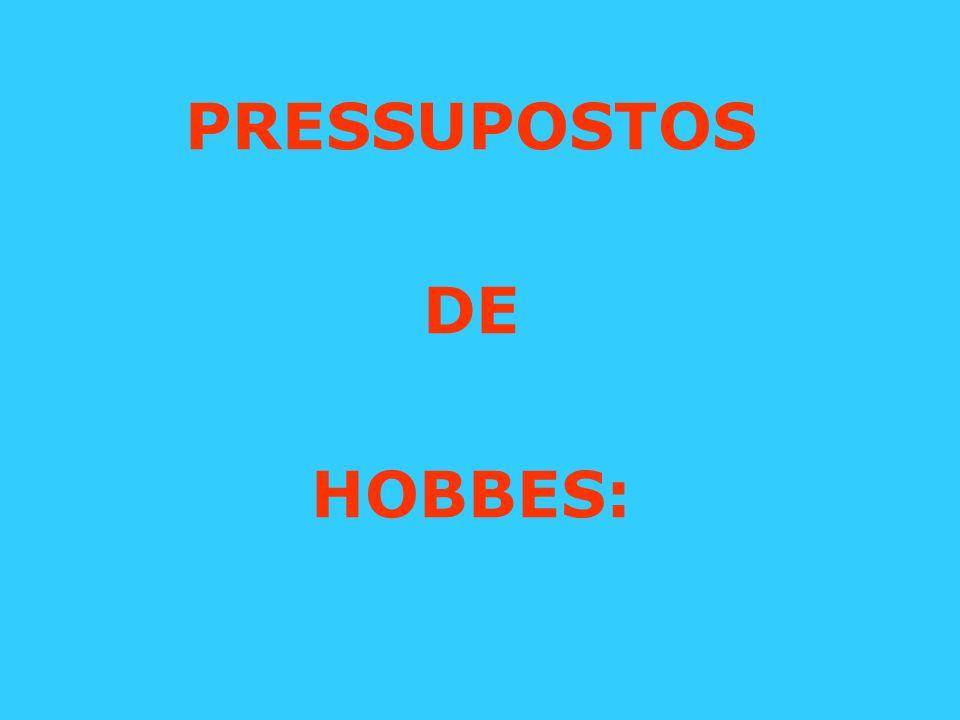 PRESSUPOSTOS DE HOBBES: