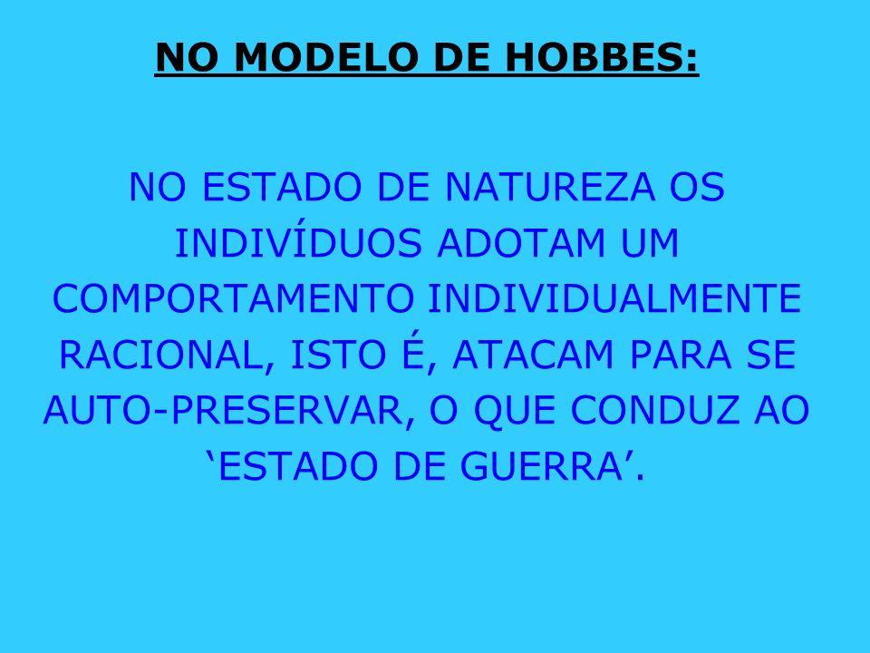 NO MODELO DE HOBBES:
